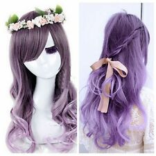 Fashion New Womens Lolita Curly Wavy Long Wigs Cosplay Party Full Hair Wig