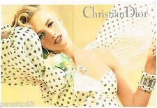 PUBLICITE ADVERTISING 095  1992  DIOR collection pret à porter accessoires ( 2p)
