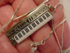 (M-324-F) ROLAND D50 SYNTHESIZER keyboard NECKLACE silver plate music JEWELRY