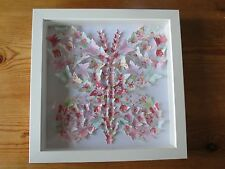 Handmade wall hanging picture BUTTERFLIES IN LARGE BUTTERFLY 3d box frame gift