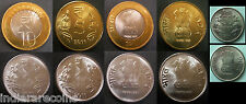India 5 coint set UNC NEW Rupee Symbol  2011 Bimetallic