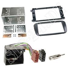 Doppel-DIN Autoradio Einbauset Rahmen ISO Adapter KFZ Blende Ford Galaxy schwarz