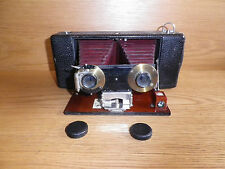Antique 1907 Kodak Stereo Hawkeye Model 3 Folding Camera