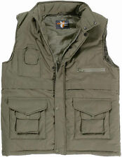 MENS OLIVE PADDED FISHING HUNTING SHOOTING WAISTCOAT GILLET JACKET SIZE XXL