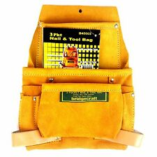 3 Pkt Nail & Tool Leather Bag , B40003, 836982001212