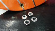 "2 New 1/4"" Silver Rat Rod Muscle Bike Bicycle Banana Seat Grommets"