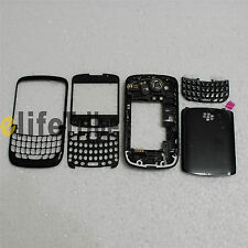Full Housing Case + Battery Cover + Keypad for Blackberry 8520 Black