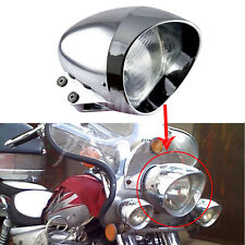Motorcycle Chrome Front Bullet Headlight For Harley Cruise Honda Steed Shadow