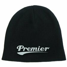 Premier Drums White Logo Black Cotton Winter Beanie Hat Stand Cymbal Official