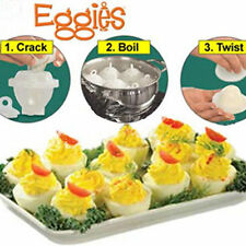 Hard Boil Egg Cooker 6 Eggies With Bonus Egg White Separator Cooking Tools UK