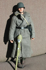 1/6 scale German SS soldier, Greatcoat, P38 pistol, PANZERFAUST, Full field gear