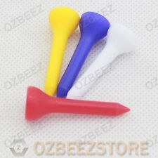 100 x All Plastic 35mm golf tees  small for driver assorted mixed colors
