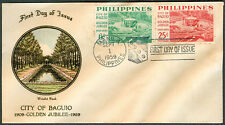 1959 Philippines CITY OF BAGUIO GOLDEN JUBILEE 1909-1959 First Day Cover - D