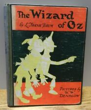 """1903 Vintage copy of """"The wizard of OZ"""" written by Baum green/red Hardcover book"""