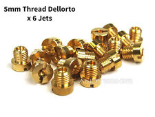 Set De 6 X 5 Mm M5 Hilo Dellorto Carb principal kit de jet - 75, 78, 80, 82, 85, 88
