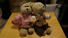 Starbucks Bearista Valentines Day Date Lot Boy Girl 2007 Plush 58th 59th Bears