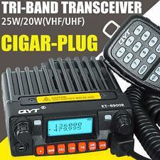 QYT KT-8900R Tri-band Car Radio 25W Mobile UHF/VHF Transceiver 200CH Car Charger