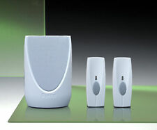 Byron 100m Portable, Front Door/Back Door Wireless Chime Kit - BY201TX