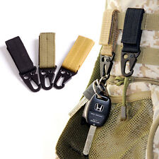 3X Tactical Gear Carabiner Clip Key Ring Chain Holder Hook For Molle System Bag
