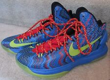 2012 Nike Zoom KEVIN DURANT KD V Christmas Day Blue/Green/Red 554988-401 Sz 9