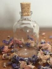 15 WEDDING FAVOUR BOTTLES  Mini empty Glass demijohn bottles  50ml cork stopper