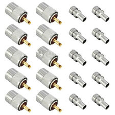 Popular 10pcs PL259 solder connector plug WITH reducer for RG59 coaxial cable sc