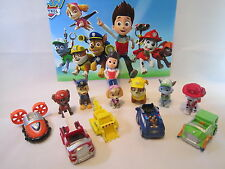 12 pcs PAW PATROL Figures Toyset Cake Toppers Ryder + 6 Pups + 5 Vehicles