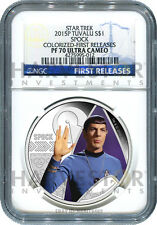 2015 CERTIFIED SILVER STAR TREK SPOCK - NGC PF70 FIRST RELEASES - ONLY 56 EXIST