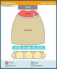 Alice in Chains 2 PIT Tickets Wiltern Theater 10/04/16 (Los Angeles)