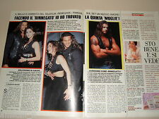 LORENZO LAMAS PAULA TRICKLEY clipping articolo fotografia foto photo 1994 AS47