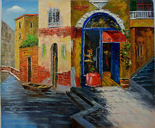 VENICE BISTRO HAND PAINTED OIL ON CANVAS