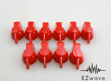 "10 x Red Chicken Head Plastic Effects Pedal Control Knob for 1/4"" Shaft"