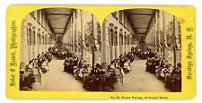Saratoga Springs NY-FRONT PIAZZA OF GRAND HOTEL-1870s Baker & Record Stereoview