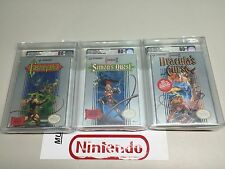 NES NINTENDO CASTLEVANIA I II III ALL TRILOGY NEW FACTORY SEALED VGA 80+