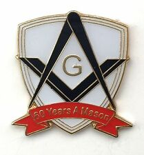 60 Years a Mason Masonic Commemorative Lapel Pin Badge *Exclusive*