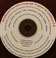Home School Preschool Montessori Phonetic Language Material  print-cover use CD