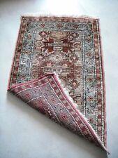 petit tapis oriental en SOIE veritable fait main  95 x 58 cm