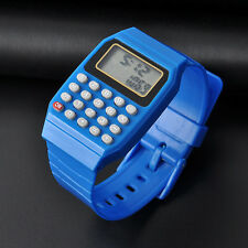 Silicone Child Kid Date Multi-Purpose Electronic Wrist Calculator Watch Blue New