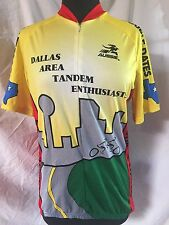 """AUSSIE Cycling Jersey """"Dallas Area Tandem Enthusiasts"""" Texas Men's Large"""