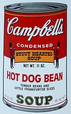 ANDY WARHOL CAMPBELLS' HOT DOG BEAN SOUP II Can SUNDAY B.MORNING 55/1500 Lim.Ed