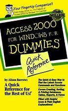 Access 2000 for Windows for Dummies Quick Reference-ExLibrary