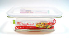 Lock & Lock 1L Rectangle Glass Storage Container Oven Tableware Dish Microwave