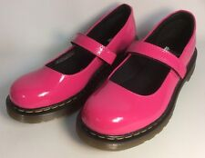 Girls Dr Doc Martens Mary Jane Bright Pink Patent Leather  Sz 4 NEW