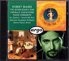 Robert BEASER Piano Concerto Seven Deadly Sins Chorale Variations D.R. DAVIES CD