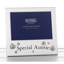 Special Auntie Brushed Silver Photo Frame Ideal Birthday Mothers Day Gift