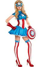 The Avengers Captain America Dream Female Adult Costume Size 6-8 Brand New 586