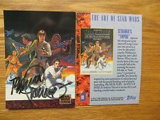 1993 TOPPS STAR WARS GALAXY 1 CARD MEDIASCENE POSTER # 2 SIGNED JIM STERANKO ART