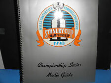 NHL 1990 Stanley Cup Championship Series Media Guide