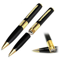 Gold Spy Pen Camera Mini Cam HD Video DVR Recorder Hidden USB SpyCam -up to 32GB