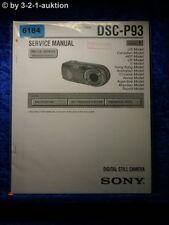 Sony Service Manual DSC P93 Level 1 Digital Still Camera (#6184)